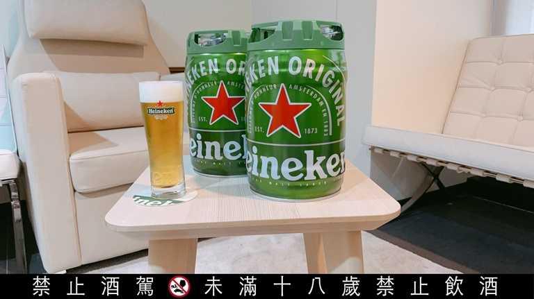 「海尼根」的眾量桶透過二氧化碳氣瓶加壓汲取,開封後桶內啤酒依然能夠連續保鮮30天。