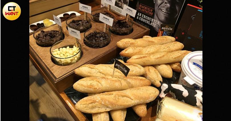 越來越多法國食材食品來台,提供高貴不貴家庭三餐選擇。(攝影/楊麗雯)