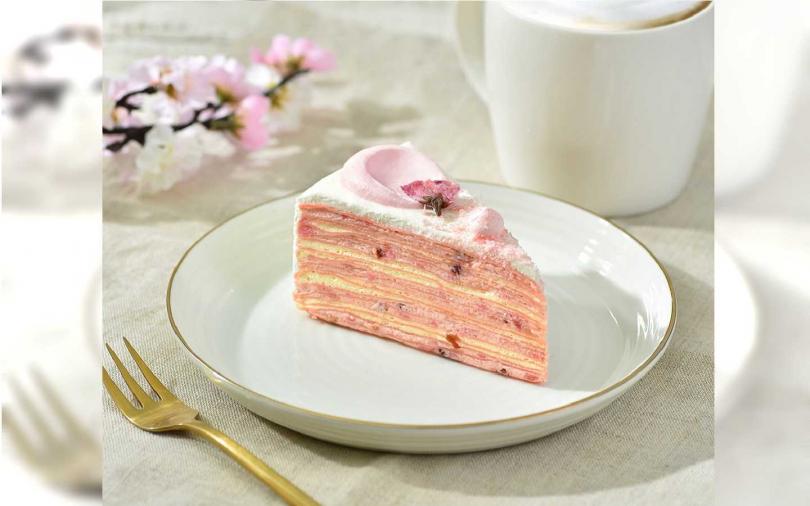 櫻花莓果千層薄餅。(圖/星巴克提供)