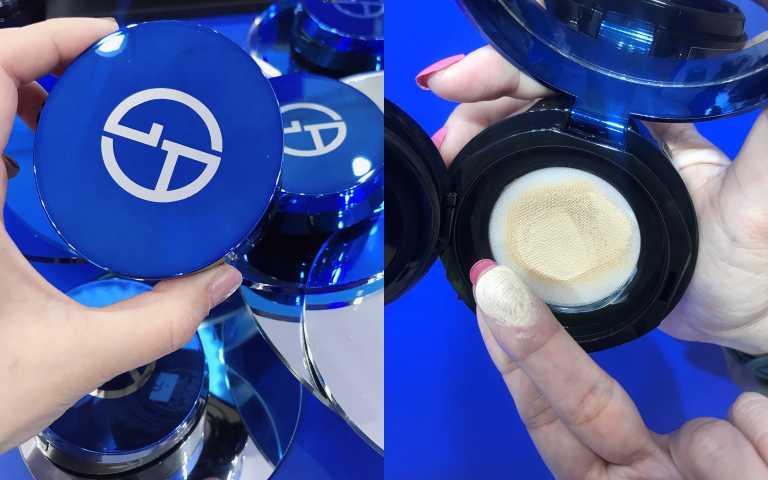 GIORGIO ARMANI全新《設計師全能氣墊水粉霜》SPF50 PA+++ 14g/2750元(圖/黃筱婷攝影)