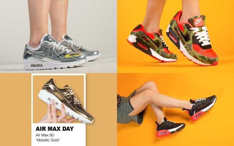 AIR MAX 90 Metallic Pack NT5,400、ATMOS X AIR MAX 90 NT4,500、ATMOS X AIR MAX 2090 NT4,900(圖/FRUITION)