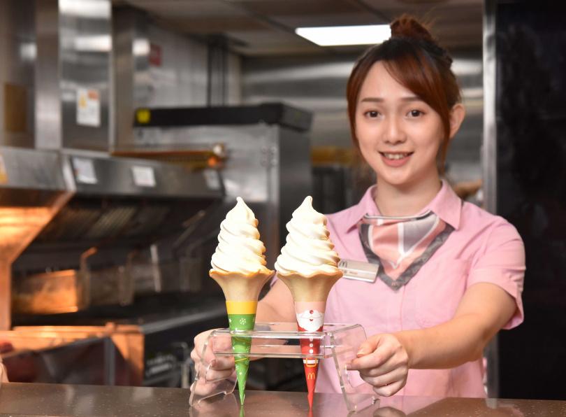 麥當勞去年推出加大版的「大蛋捲冰淇淋」,份量十足!