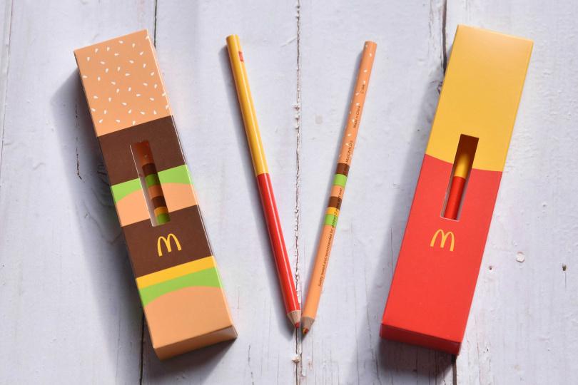 兩款Q萌可愛的紅、黃雙色鉛筆,相信會吸引不少大小朋友的目光!