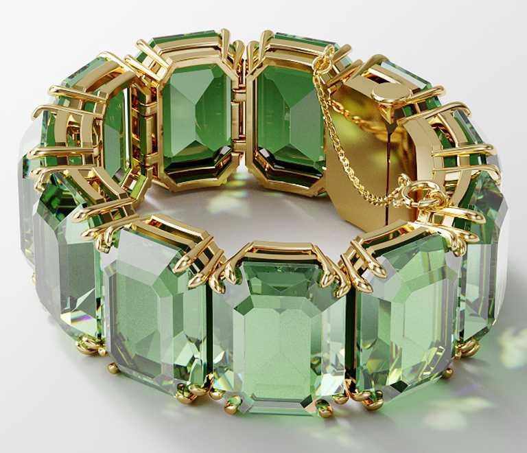 SWAROVSKI「Wonderlab Collection I」MILLENIA虹彩水晶手環╱價格店洽。(圖╱SWAROVSKI提供)
