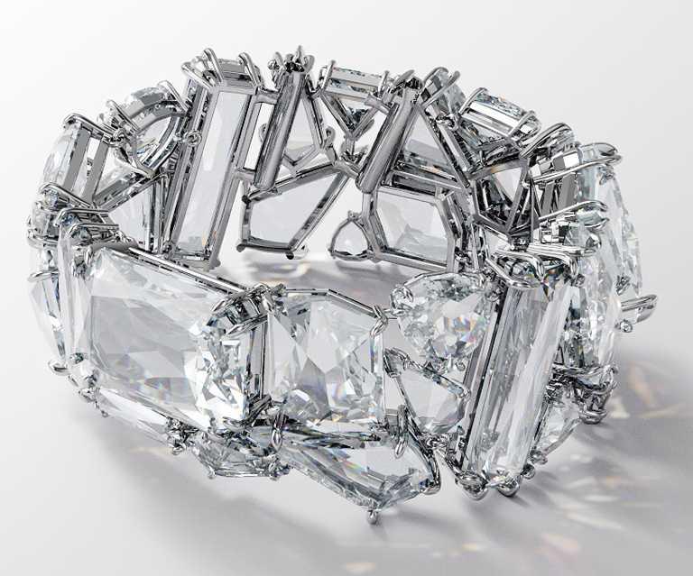 SWAROVSKI「Wonderlab Collection I」MESMERA水晶手環╱價格店洽。(圖╱SWAROVSKI提供)
