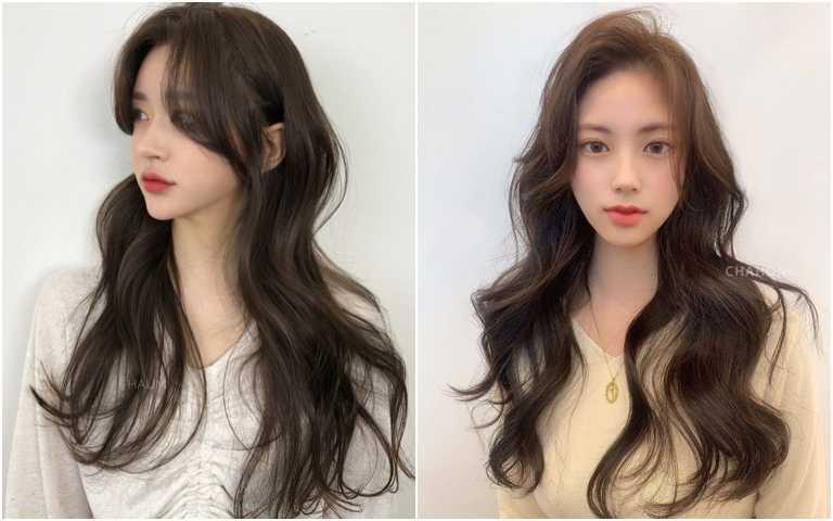 不想燙髮的人也可以利用電棒捲做出捲度。(圖/IG@haum_style、IG@chahong_official)