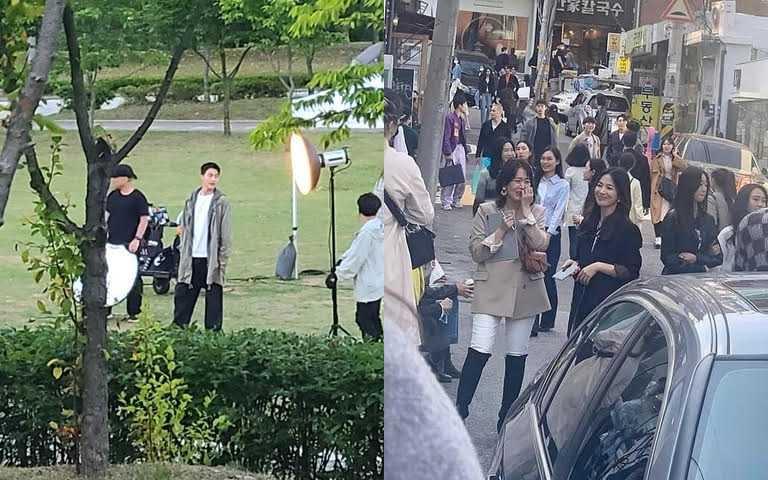 雖然還沒有正式劇照,但韓國IG上已經搶先流出《現在分手中》的拍攝照了。(圖/IG@jky_mm、IG@only_kyo1122)