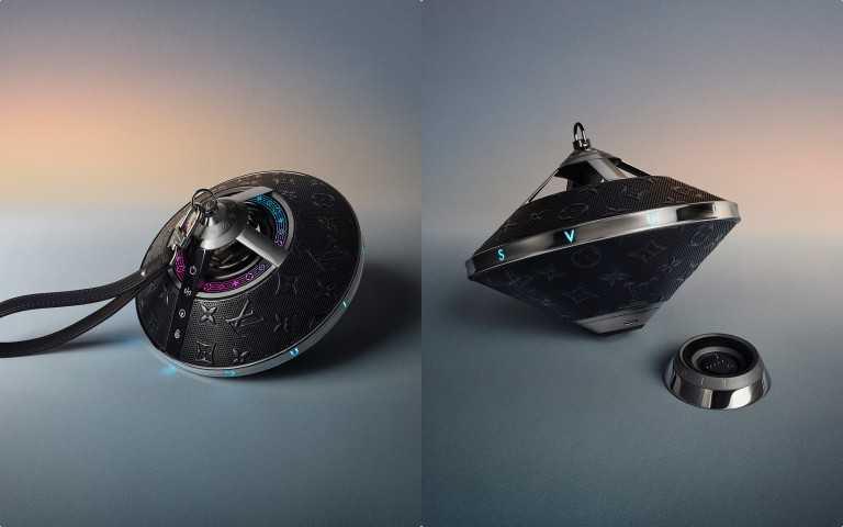 LV Horizon Light Up揚聲器,充電續航力充飽電後可播放最多12個小時,上市時間:7月30日上市。售價 89,500元(圖/品牌提供)