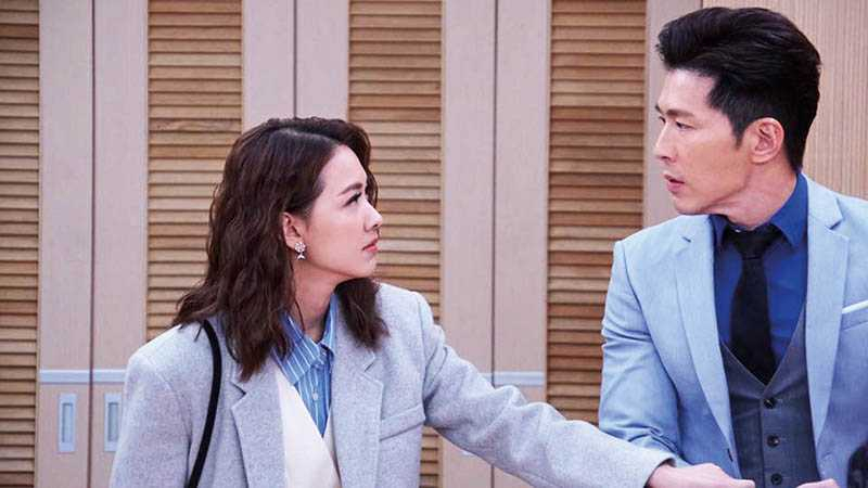 在《炮仔聲》中,林玟誼愛上黃少祺所飾演的已婚總裁。(圖/翻攝自臉書)