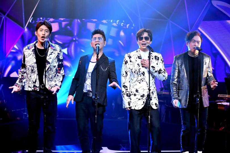 黃昺翔(左起)、荒山亮、蕭煌奇、康康在節目中有精彩演出。(圖/華視提供)