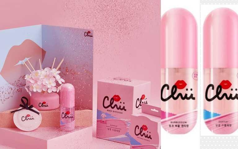 韓系香氛品牌CHU推出一系列戀愛系香氛,包括擴香、香氛袋、香水等,右為 CHU戀愛能量香氛噴霧100ml/129元(圖/品牌提供)