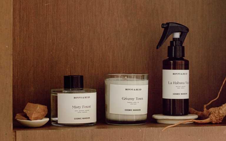 Bonny & Read攜手COSMIC MANSION推出蠟燭、擴香,和空間織品噴霧新系列。(圖/品牌提供)
