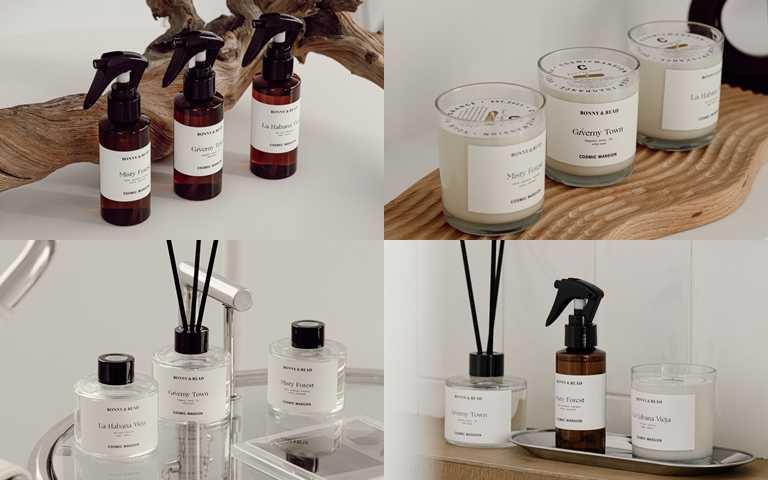 設計出三款獨家香氣─哈瓦那舊城、吉維尼小鎮,以及薄霧森林。(圖/品牌提供)
