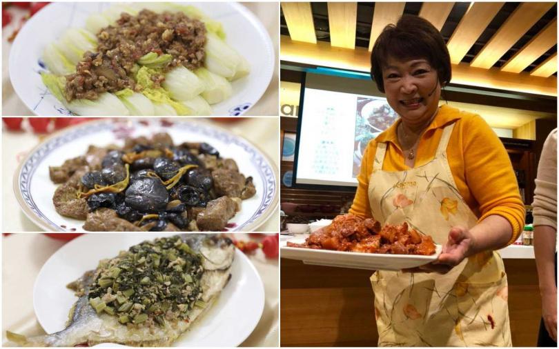 程安琪與「家傳宴客年菜」。(圖/程安琪提供)