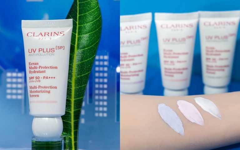 CLARINS 5P防禦UV水凝乳 SPF50‧PA+++ 50ml (共三色-透明/BABY 粉/亮顏紫)/2,300元(圖/品牌提供)