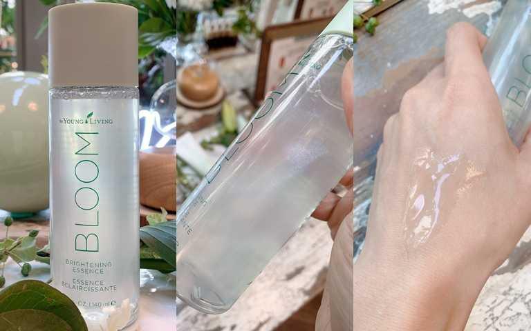 悠樂芳BLOOM植萃亮白精華140ml/2,570元高機能的精華水,除了每天擦塗,也推薦每周2~3次擠在化妝棉上當作溫和型去角質使用。(圖/吳雅鈴攝影)