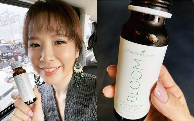 不受年紀影響,肌膚狀況反而越來越好的天心,就是這瓶「BLOOM膠原亮膚飲」的忠實鐵粉。(圖/翻攝天心IG)