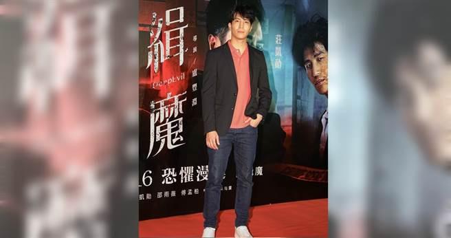 吳翔震在電影中飾演關鍵性角色。(圖/林勝發 攝)