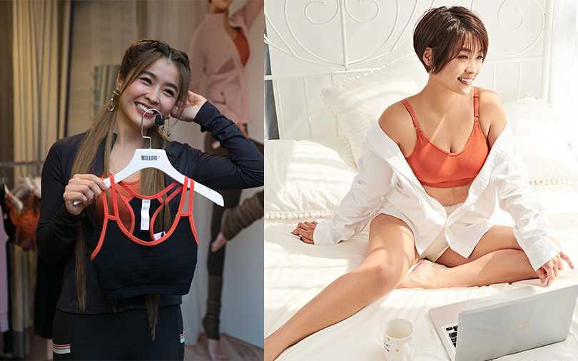 小嫻跟品牌合作打造「對女性最友善」的內衣,設計重點要舒適、透氣還要好看!(圖/MOLLIFIX提供)