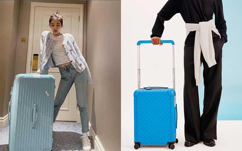 買不到同款的baby blue行李箱,可以考慮入手一款LV的太平洋藍行李箱。(圖/jennierubyjane IG,LV提供)