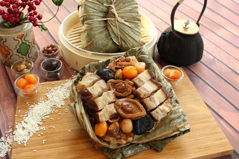 窖藏東坡海味鮑粽。(圖/台中日月千禧酒店提供)