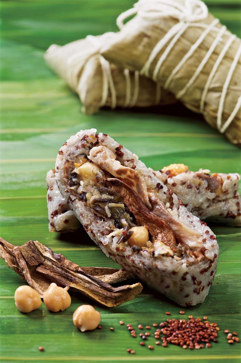 紅藜麥肝菌肥牛粽。(圖/台北神旺大飯店提供)