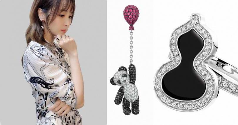 Qeelin Bo Bo耳環與Wulu戒指。(圖/品牌提供)
