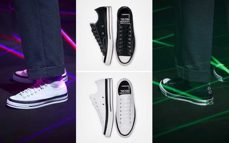 7 MONCLER FRAGMENT + CONVERSE CHUCK 70系列鞋款建議售價為NT4,380,將在9月3日起於INVINCIBLE開始販售。(圖/Converse)