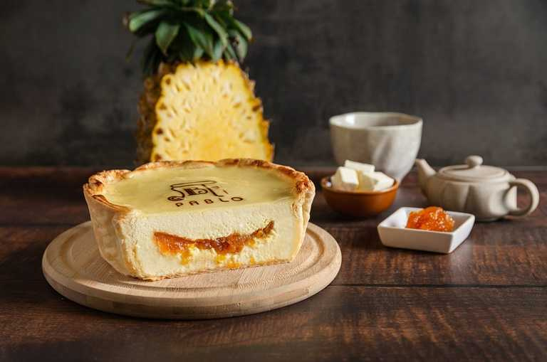 「土鳳梨起司塔」軟綿的鳳梨起司內餡吃得到鳳梨顆粒口感。