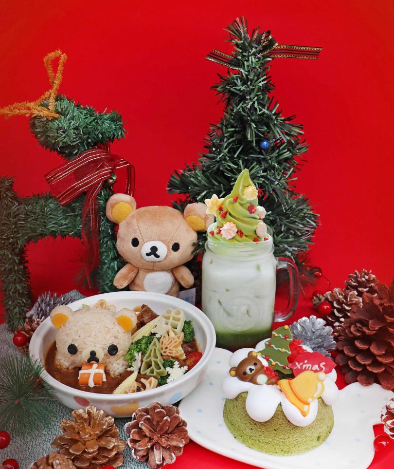 拉拉熊耶誕套餐。(圖/拉拉熊茶屋提供)