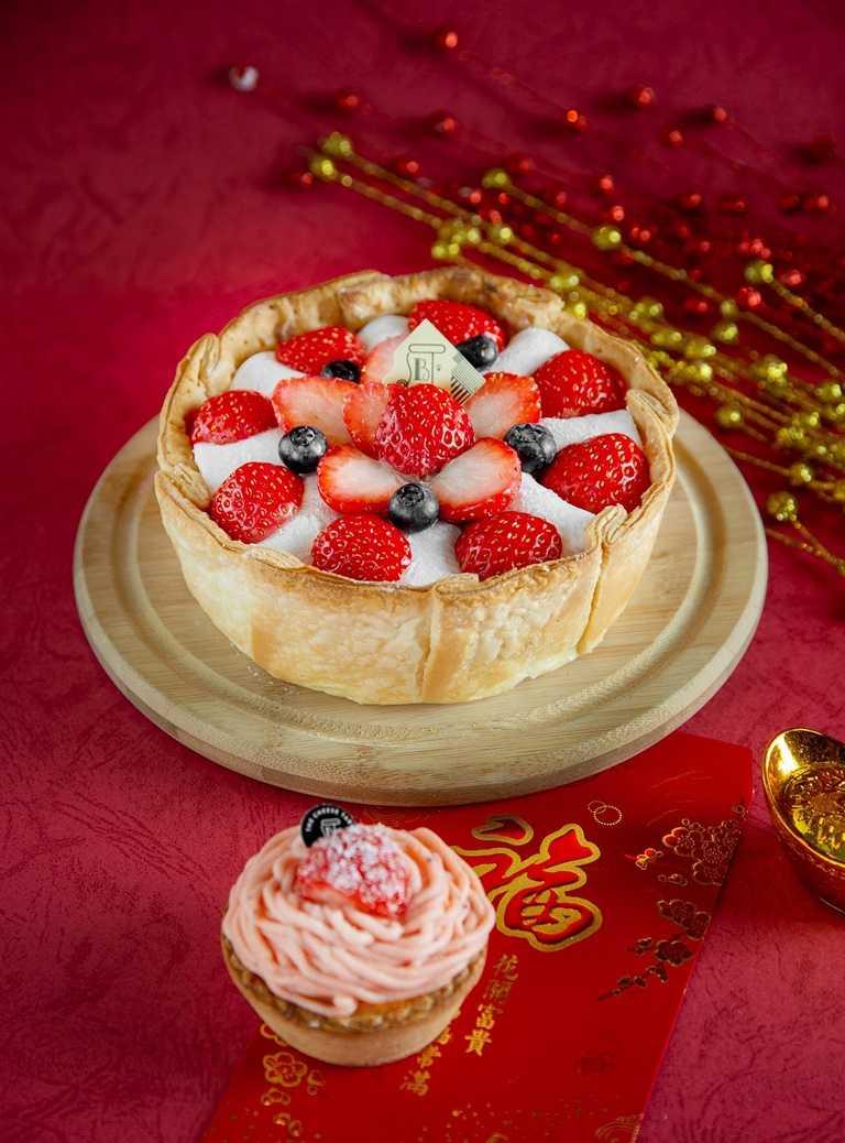「PABLO」配合時令推出的「草莓大福起司塔」,採每日限量發售。