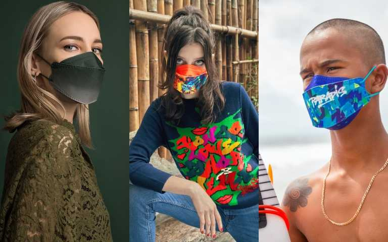口罩品牌masklab有推出塗鴉款和時髦簡潔款。(圖/ig)