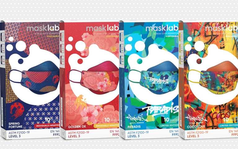 masklab與法國塗鴉藝術家 Cyril KONGO 合作,創作出三款獨特塗鴉設計的限量收藏系列 KF 韓式立體口罩。(圖/ig)