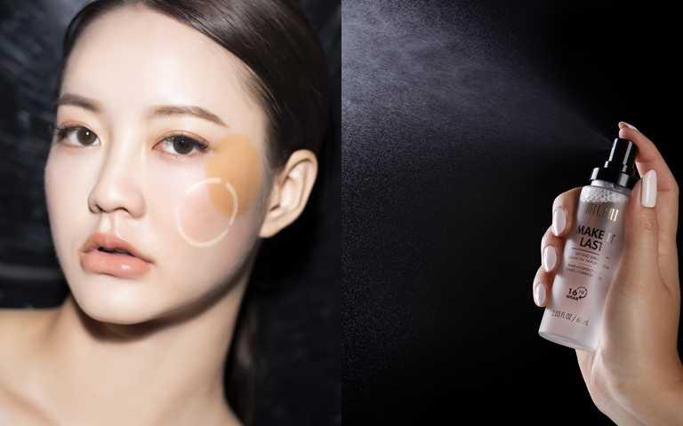 因為現在的定妝噴霧都兼具保濕成分,所以不怕越噴越乾,一樣能保有自然透亮感。(圖/品牌提供、莊立人攝)