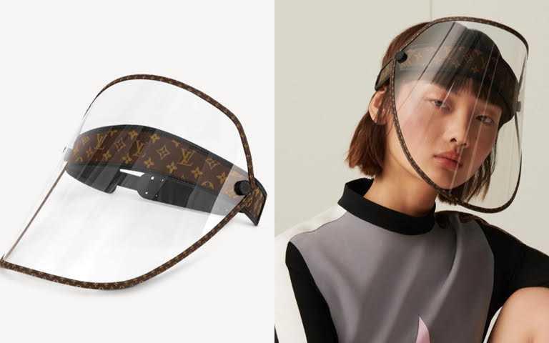 LV SHIELD面罩/30,700元  不得不說,由精品品牌設計的面罩真的就是自帶時髦兩個字ㄟ!(圖/翻攝網路)