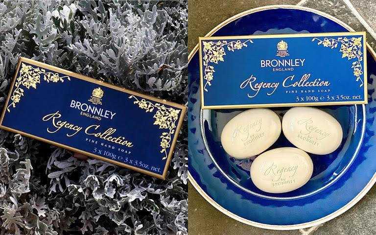 BRONNLEY攝政爵士3皂禮盒/原價1,980元父親節活動期間,御香坊官網特價88折=1,742元就能入手。(圖/品牌提供、IG@bronnley)