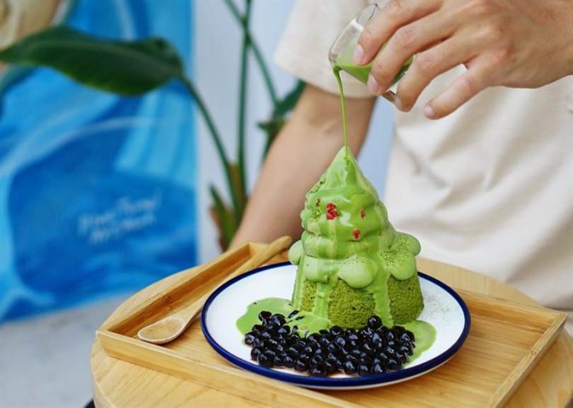 抹茶冰山,220元。(圖/Kinber金帛手製提供)