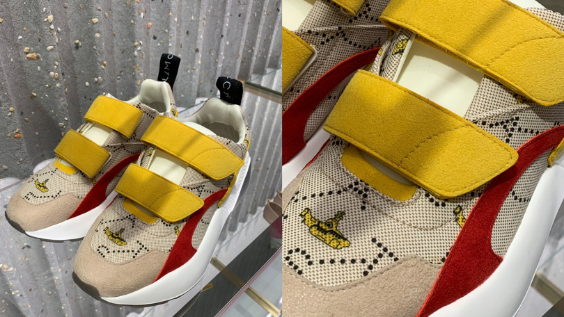 細緻的將黃色淺水艇與品牌經典鞋款巧妙融合。(攝影/陳瑋)