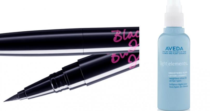 (左)Za 抗手震極細氣墊眼線液/350元,(右)AVEDA輕感柔亮液100ml/1,200元。(圖/品牌提供)
