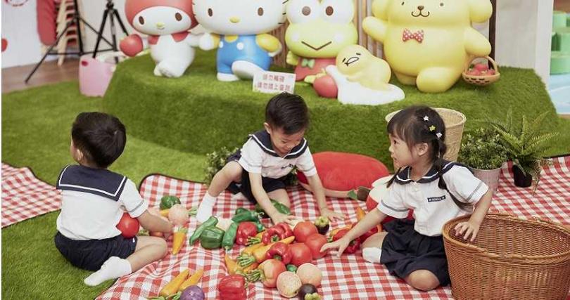遊憩區有球池、攀爬設施等,由六大人氣角色陪著孩子安全遊玩。(圖/Hello Kitty蘋果村)