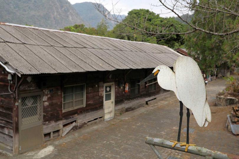 松鶴部落林場巷的整排檜木板屋,正是當時的林務局員工宿舍。(圖/于魯光攝)