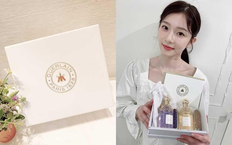 收到這樣高級質感的禮盒,裡面又是女生最喜歡的香水跟唇膏,誰會不開心>///<。(圖/吳雅鈴攝影)