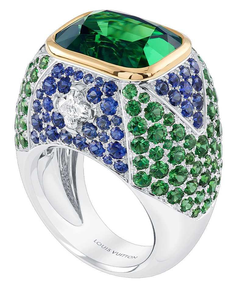 LV「Bravery」高級珠寶系列 ,La Constellation d'Hercule戒指╱17,200,000元。(圖╱LOUIS VUITTON提供)