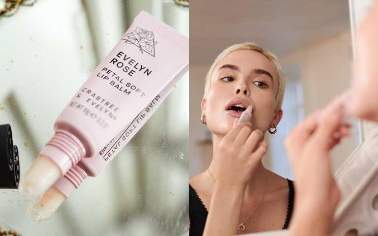 瑰柏翠伊芙琳玫瑰花瓣輕柔護唇膏10g/525元  擦上它跟唇部的乾燥死皮說拜拜~。(圖/品牌提供)