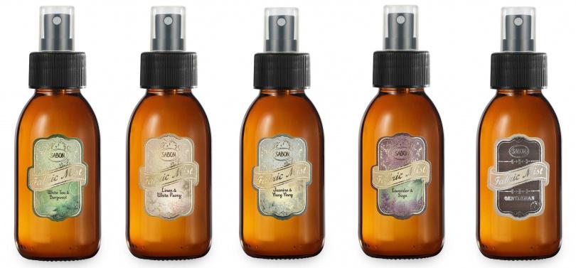 SABON織物香氛噴霧100ml/680元以SABON最令人喜愛的常態香氣為基礎,延伸出的五種香氣,其中還有男生也適用的紳士系列佛手柑香調。(圖/品牌提供)