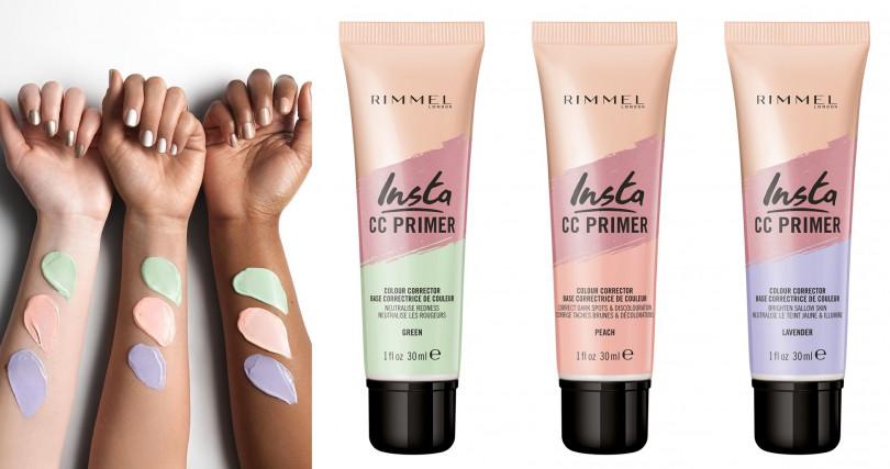 RIMMEL這次一次帶來3款不同顏色的妝前乳,不但能效正膚色,特殊的輕盈質地還可以修飾細微毛孔及不平整肌膚,讓後續上妝更無負擔。(圖/品牌提供)