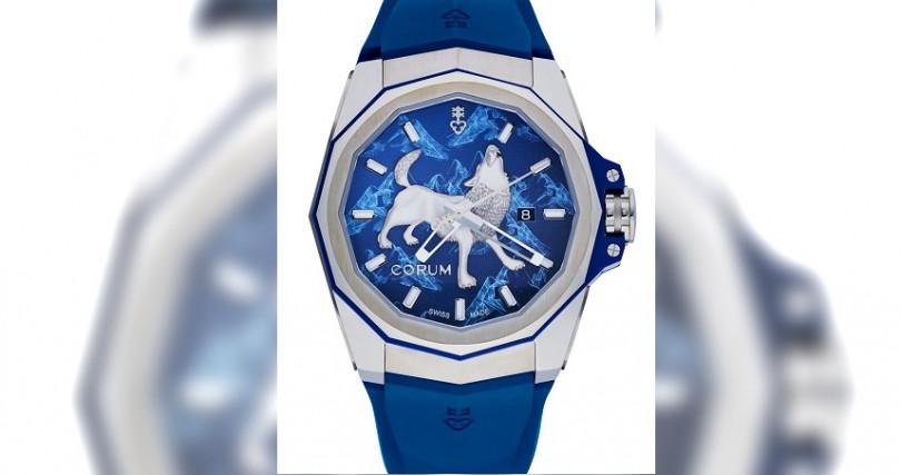 崑崙Admiral AC-One海軍上將系列狼圖騰腕錶/鈦合金錶殼,錶徑45mm/自動上鍊機芯,儲能42小時/大三針,日期/防水300米/全球限量8只/定價:280,000元,鑽圈款:460,000元