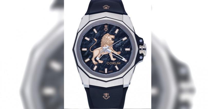 崑崙Admiral AC-One海軍上將系列獅圖騰腕錶/鈦合金錶殼,錶徑45mm/自動上鍊機芯,儲能42小時/大三針,日期/防水100米/全球限量8只/定價:280,000元,鑽圈款:460,000元