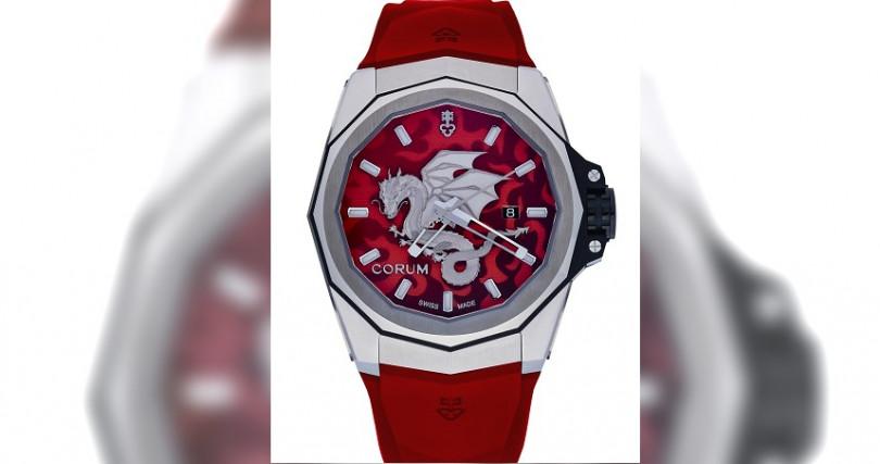 崑崙Admiral AC-One海軍上將系列龍圖騰腕錶/鈦合金錶殼,錶徑45mm/自動上鍊機芯,儲能42小時/大三針,日期/防水300米/全球限量8只/定價:280,000元,鑽圈款:460,000元