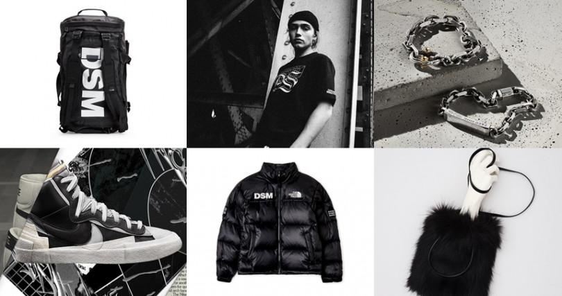 集結超過40個高級精品與街頭潮流品牌,趁著Black Friday聯手推出黑色時尚季。(圖/DOVER STREET MARKET)